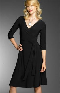 Jones New York Dress Matte Jersey Wrap Dress