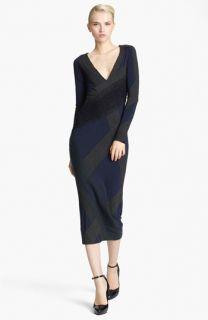 Donna Karan Collection Needle Punch Jersey Dress