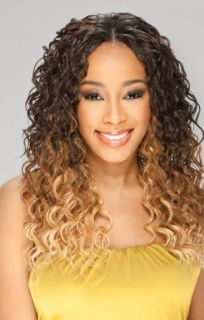 4pcs by FreeTress Equal Double Synthetic Weave Long Curly Style