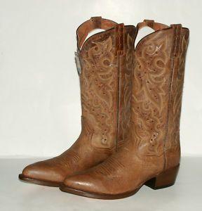 244 Dan Post Mens DP2255 Deer Skin Distressed Tan Western Boots