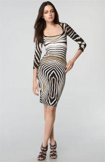 Just Cavalli Zebra Print Stretch Cotton Dress