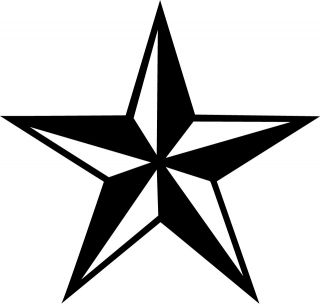 Nautical Star Vinyl Sticker Decal Dark Darc Choose Size Color