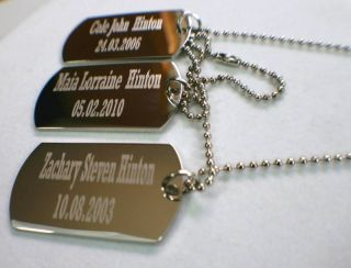 Personalized Dog Tags Military Style Custom Necklace