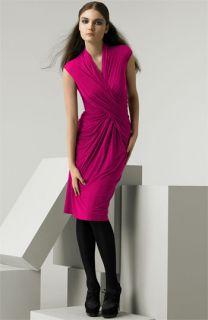 Donna Karan Collection Cross Front Jersey Dress