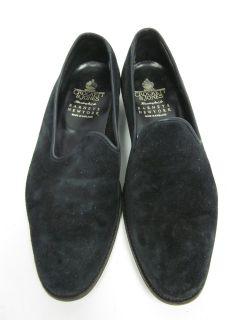 Crockett Jones Mens Black Suede Driving Shoes Sz 7 D