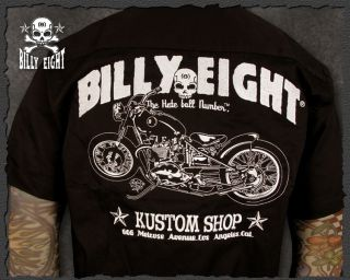 Billy Eight★custom Shop★ Casual Work Shirt Morotcycle motorbike s