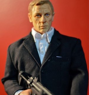 Custom Daniel Craig 12 1 6 James Bond Sideshow DVD action Figure