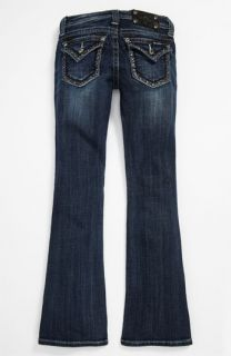 Miss Me Sparkle Trim Bootcut Jeans (Big Girls)