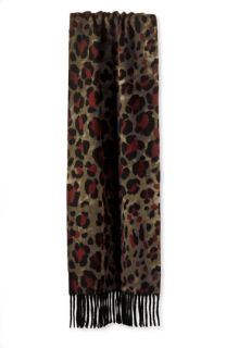 Bold Leopard Print Cashmere Scarf