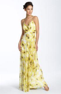 JS Collections Print Chiffon Dress