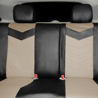 Synthetic Leather Semi Custom Car Seat Covers 60 40 Top Split Sahara