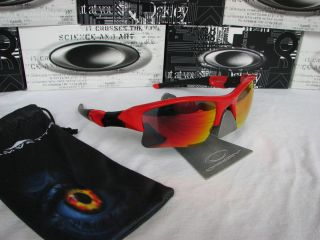 JACKET XLJ INFRA RED FRAME W RUBY RED FIRE POLARIZED CUSTOM LENSES