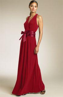 Calvin Klein Cutaway Shoulder Matte Jersey Gown