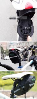 New Cycling Bicycle Bike Saddle Outdoor Pouch Seat Tail Bag Black Aza