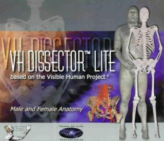 Lite 4 PC CD Learn Male Female Body Organs Muscles Anatomy Tool