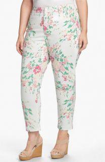 NYDJ Audrey Floral Print Ankle Jeans (Plus)