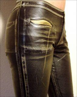 Miss Sixty Lederhose Leder Jeans Augusta Archway Neu