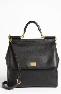 Dolce&Gabbana Flat Miss Sicily   Large Leather Satchel
