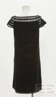 Cynthia Cynthia Steffe Black Cotton Cap Sleeve Dress Size 4