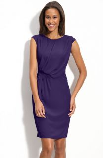 Adrianna Papell Drape Front Woven Dress (Petite)