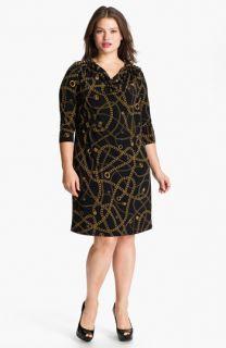 MICHAEL Michael Kors Chain Shoulder Jersey Shift Dress (Plus)