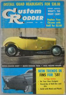 November 1957 Trad Rat Hot Rod A Roadster Dave Garroway Drag Race