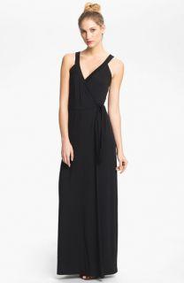 Tart Camille Sleeveless Jersey Wrap Maxi Dress