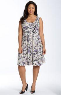 MICHAEL Michael Kors Watercolor Paisley Dress (Plus)