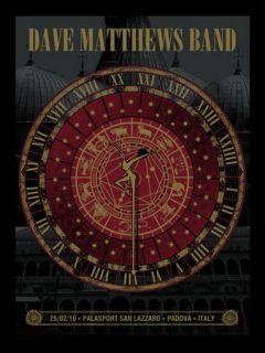 Dave Matthews Band Poster Padova Italy 2010 400