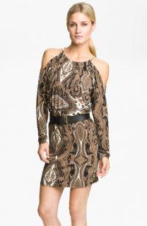 MICHAEL Michael Kors Paisley Print Cold Shoulder Dress