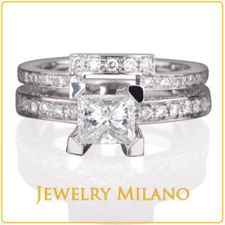 Ct Princess Cut Diamond Engagement Ring SI D Wedding Band Ring Set