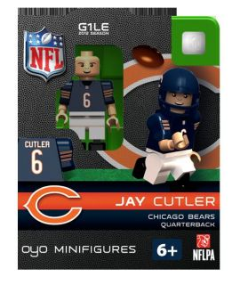 Jay Cutler Oyo Mini Fig Figure Lego Compatible Chicago Bears NIP