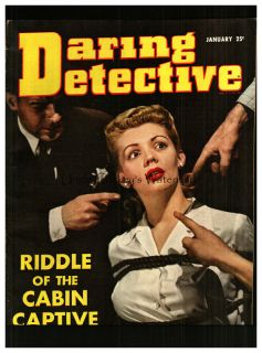 Daring Detective January 1943 real police stories ephemera magazine
