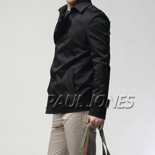 Paul Jones Men's Slim Fit Fashion Double Breast Trench Coat Jackets
