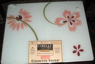 Corelle Pretty Pink Glass Cutting Board Large Size New