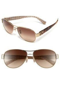 COACH Charity Metal Aviator Sunglasses