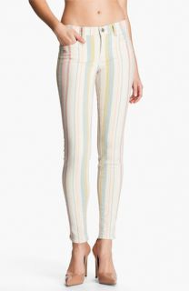 J Brand Pastel Stripe Stretch Denim Skinny Jeans (Candy Stripe)