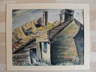 David Haughton C 1960 Painting British Artist English England