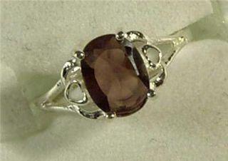 925 sterling silver faux garnet ring sz 7 new