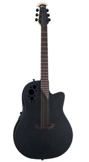 Ovation Elite T Series 1778TX Black Acoustic Electric Guitar