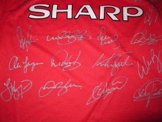 Man UTD Signed Jersey 1999 ECL Champs Manchester United Giggs Beckham