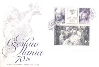 Czeslaw SLANIA 70th Sweden Miniature Sheet FDC 1991