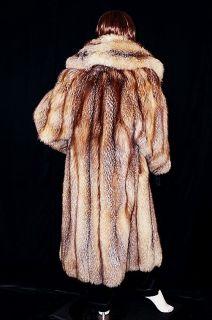 Soft Long Crystal Fox Fur Coat Jacket Amazing 55 Sweep