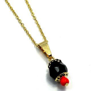 Black Azabache Amulet Evil Eye Necklace Protection Adult 8mm