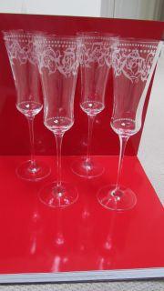 Reed Baron Florenine Flue Champagne Crysal Glasses