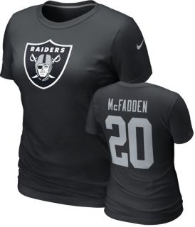 Oakland Raiders Womens Darren McFadden Name Number Tee
