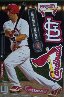 David Freese FATHEAD St. Louis Cardinals MLB Official Vinyl Wall