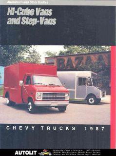 1987 Chevrolet Step Van Hi Cube Van Truck Brochure