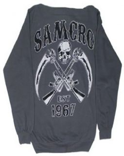 Sons of Anarchy Reaper Cross Gun Zip Up Hoodie New M L XL XXL XXXL