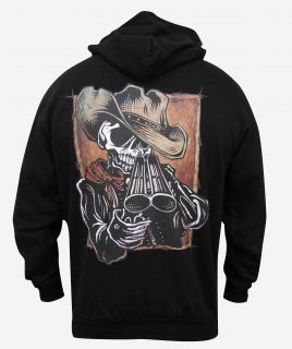 Mens Draw David Lozeau Day of The Dead Gun Tattoo Western Sheriff